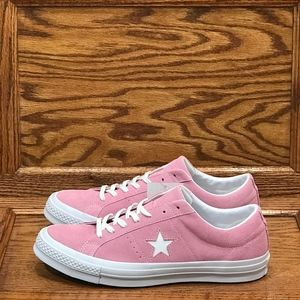 Converse One Star Ox Pink Glow White Shoes